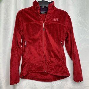 Mountain Hardware zip up soft fleece red jacket